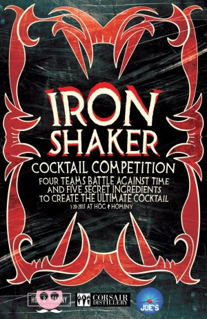 Post image for Iron Shaker Cocktail Competition at Hog & Hominy, Sun. Jan. 20